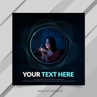 Modern dark social media post banner template