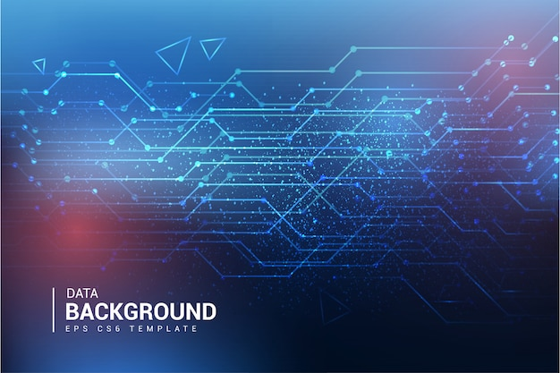 Modern data background template