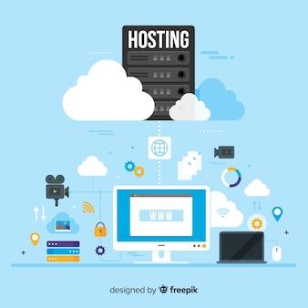Modern data hosting concept