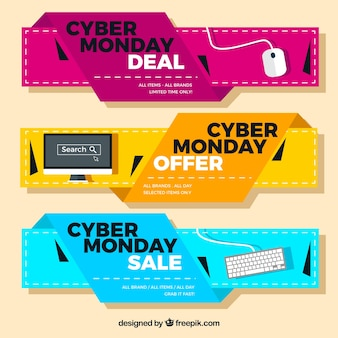 Modern deals cyber monday banners