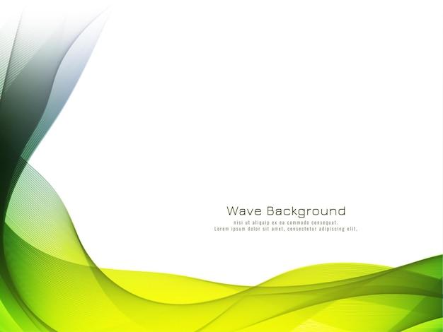 Modern decorative colorful wave background