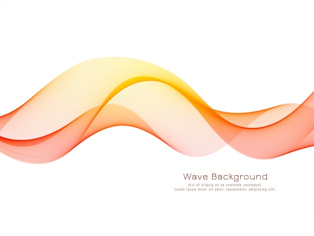 Modern decorative colorful wave background