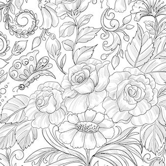 Modern decorative floral background