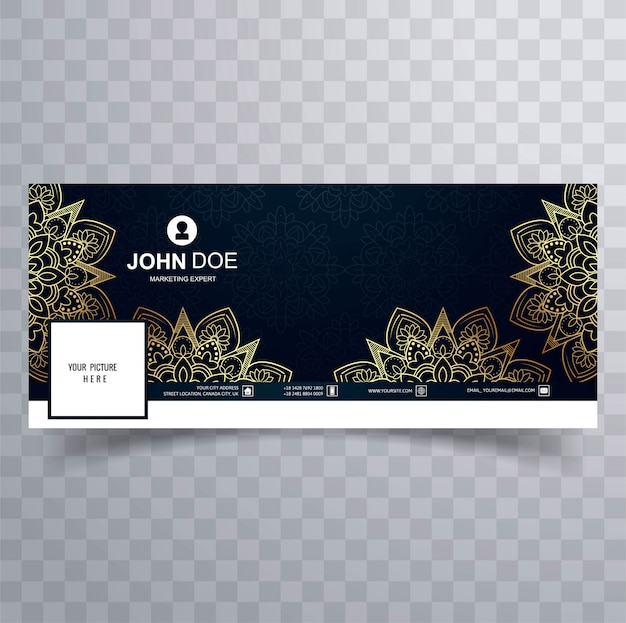 Modern decorative floral facebook banner template