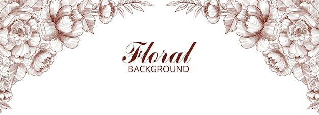 Modern decorative floral frame banner design