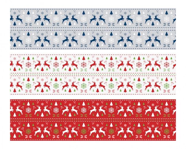 Modern deer scandinavian seamless pattern