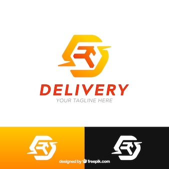 Modern delivery logo template