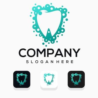 Modern dental logo desig