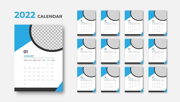 モダンデザイン2022カレンダーデザインテンプレート
