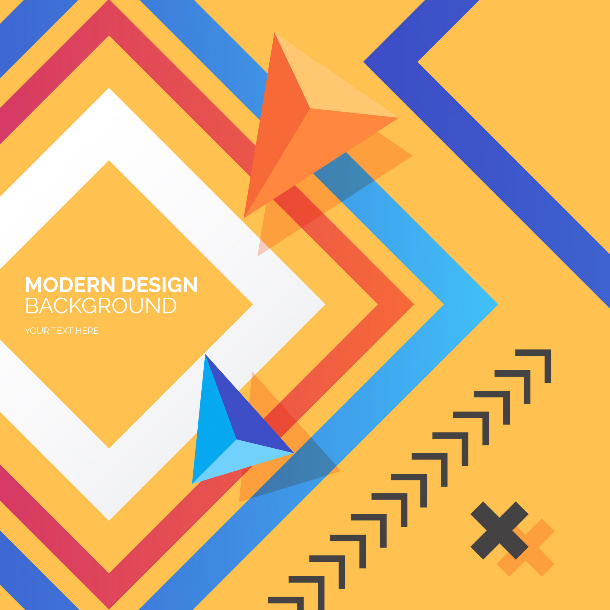 Modern Design Background with Colorful Shapes