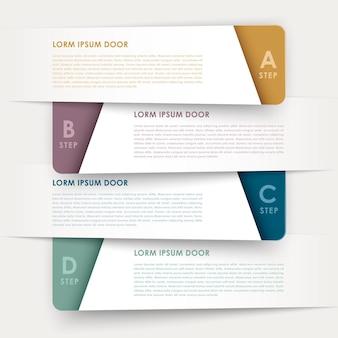 현대적인 디자인 배너 템플릿 infographic 요소 흰색 절연