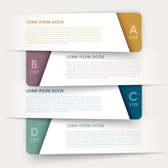 Modern design banners template infographic elements isolated on white
