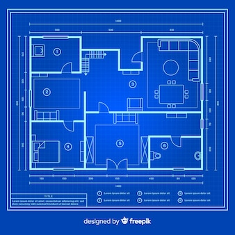 Modern design blueprint of a house