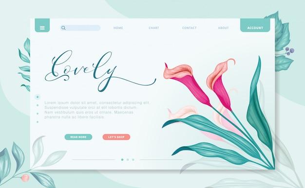 Modern design branding website template