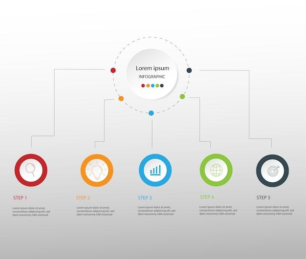 Modern design business infographics