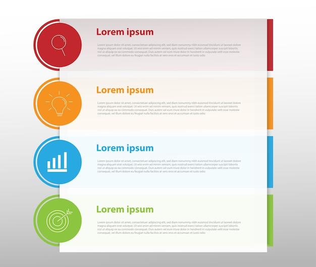 Modern design for business infographics