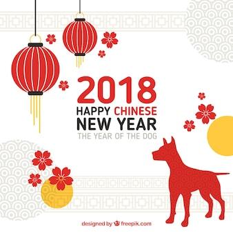 Design moderno per il nuovo anno cinese