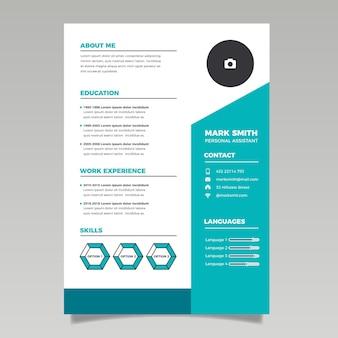 Modern design cv template