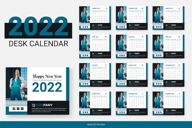 Modern design desk calendar 2022
