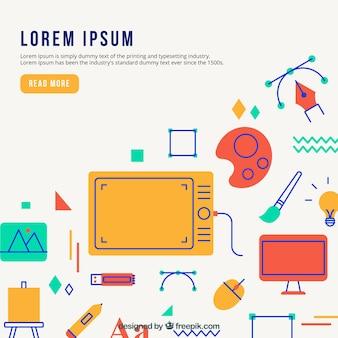 현대적인 디자인 요소 배경