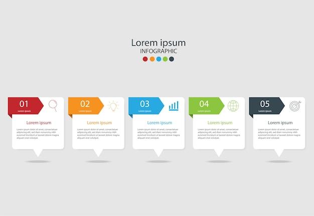 Modern design elements for business multicolor infographics