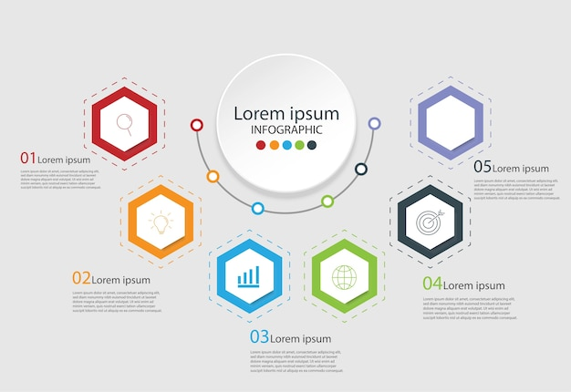 Modern design elements for business multicolor infographics.