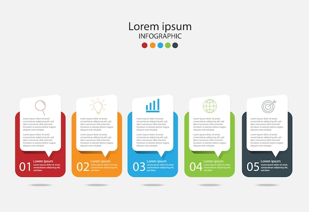 Modern design elements for business.