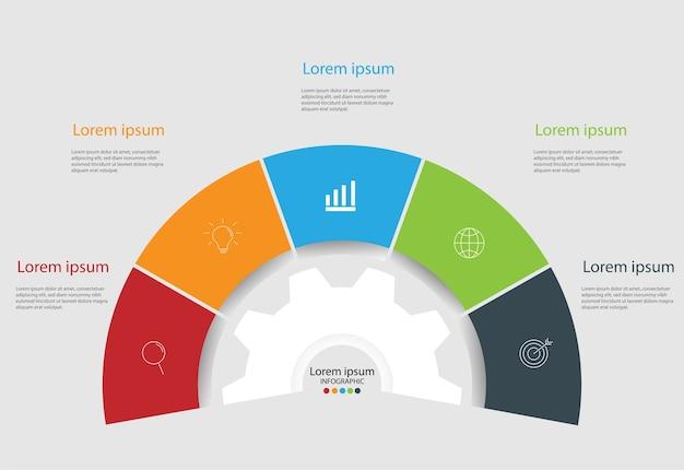 Modern design elements for business.