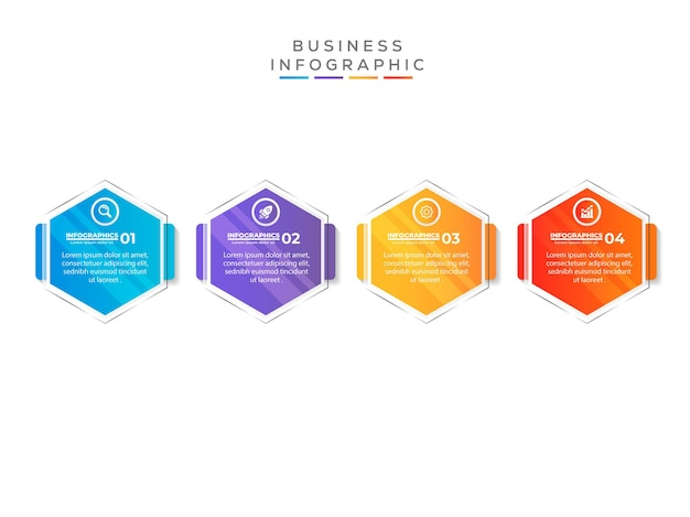 Modern design infographic template