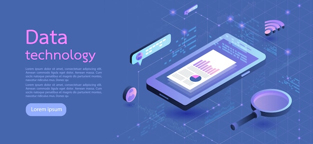 Modern design isometric concept business. vector illustration.