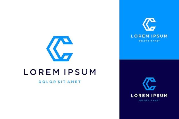 Modern design logos or monograms or initial letters c