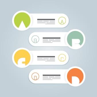 알파벳이 있는 현대적인 디자인 최소 스타일 인포그래픽 템플릿/인포그래픽/번호가 매겨진 배너/가로 컷아웃 라인/그래픽 또는 웹 사이트 레이아웃 벡터에 사용할 수 있습니다.