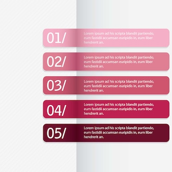 Modern design template for  numbered banners horizontal linesvector
