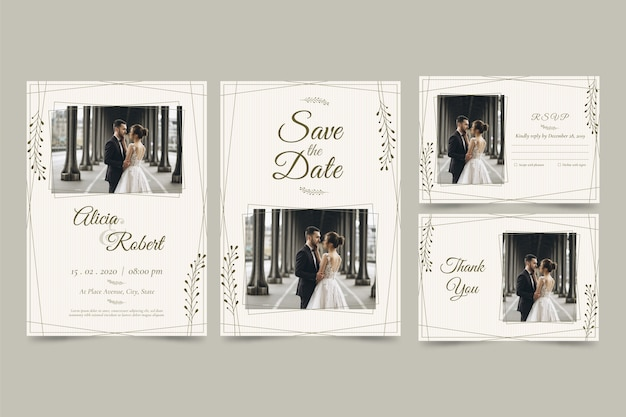 Modern design template for save the date