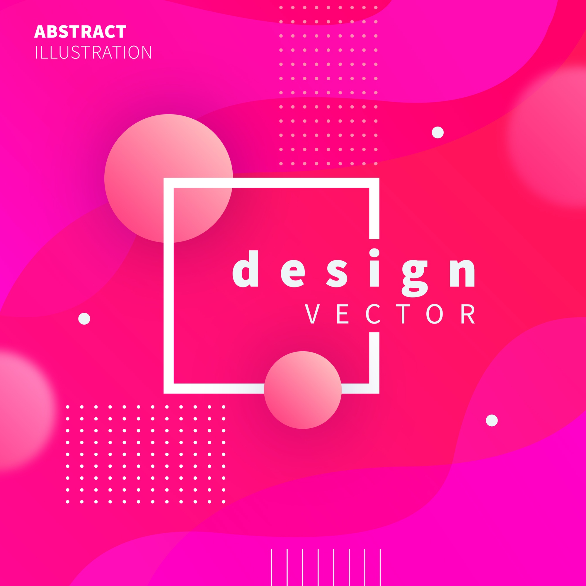 Modern design with pink spheres