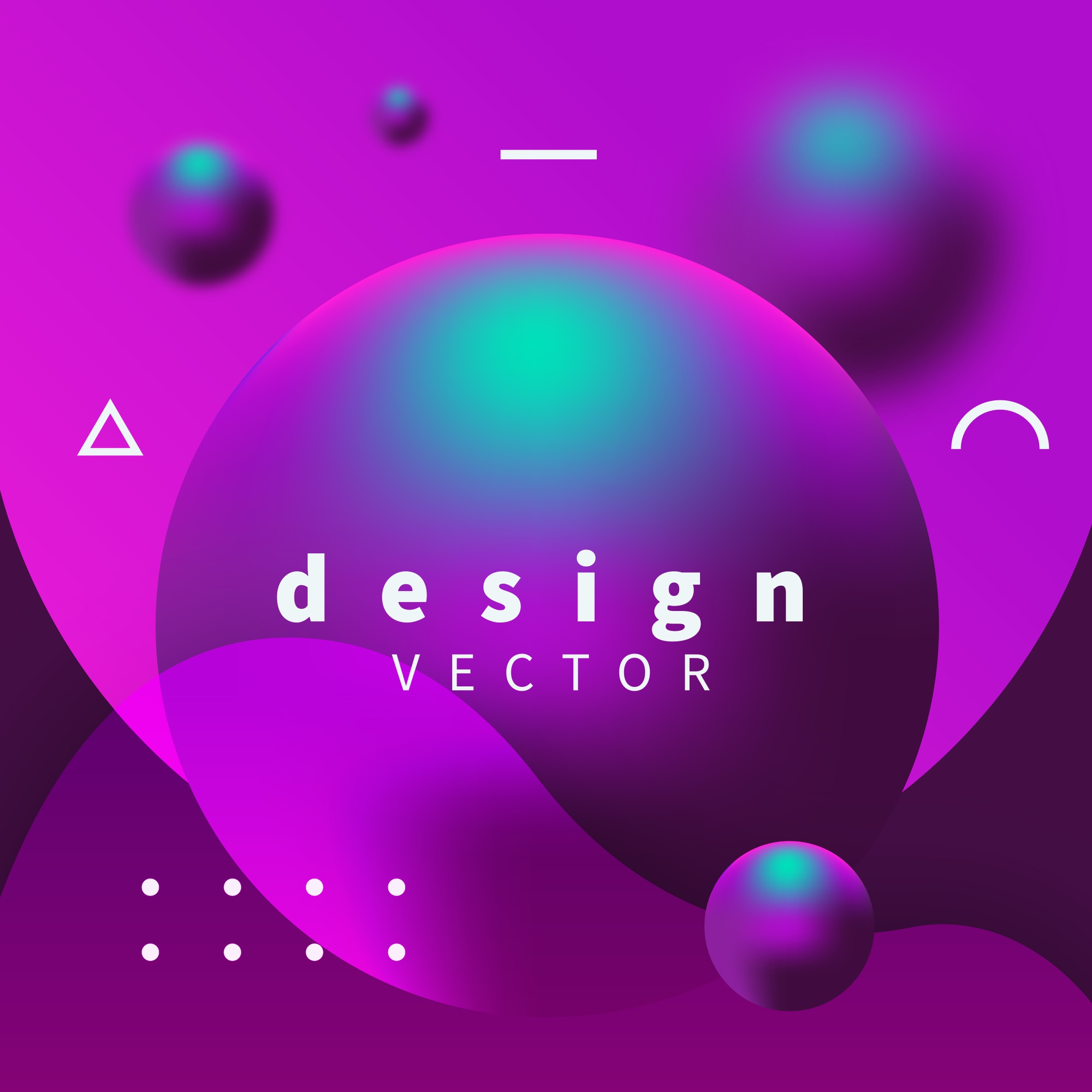 Modern design with purple and blue spheres