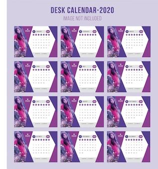 Modern desk calendar 2020