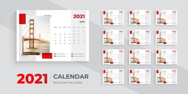 Modern desk calendar 2021