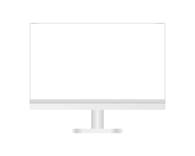 Modern desktop computer with blank screen. template design. realistic illustration.