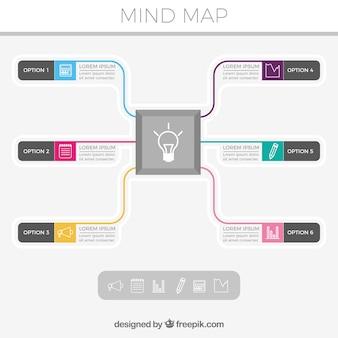 Modern diagram with main idea