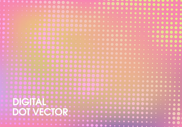 現代のデジタルドットベクターデザイン