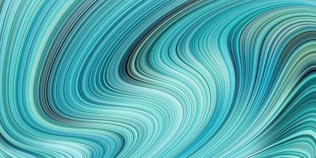 푸른 빛의 파도와 현대 디지털 스트라이프 라인