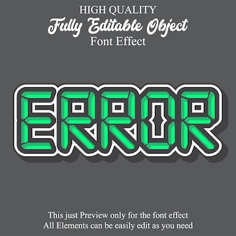 Modern digital text style editable font effect