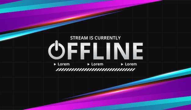 Modern digital theme twitch offline background