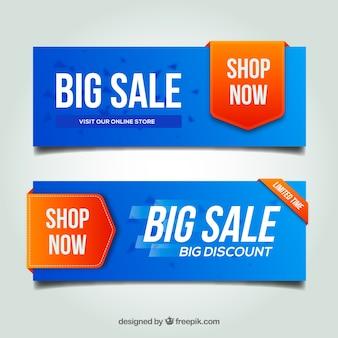Modern discount banners