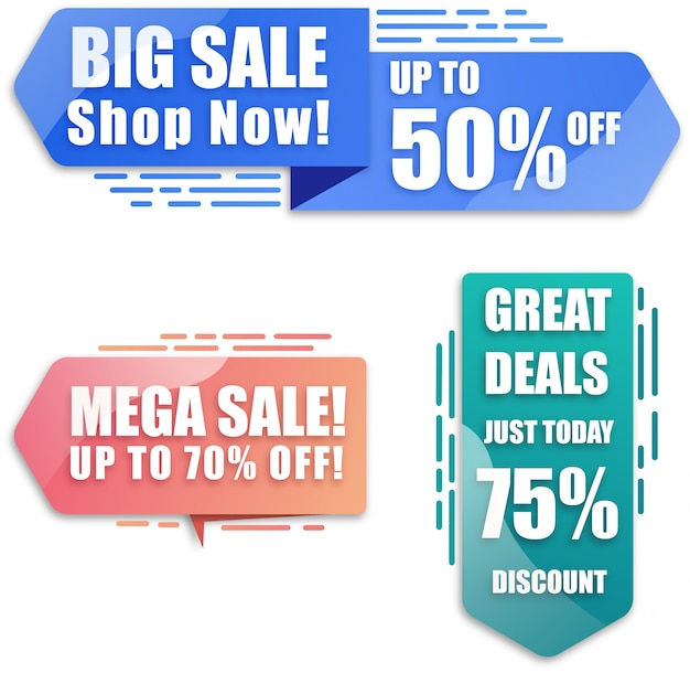 Modern discount and sales banner