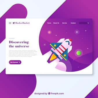 Modern discover landing page concept