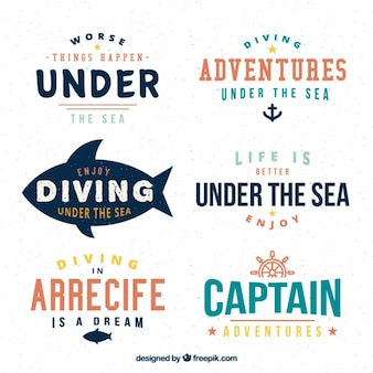 Modern diving and sailor banners
