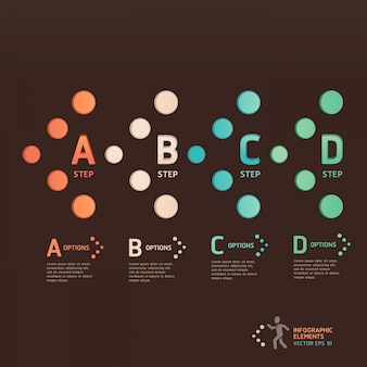 Modern dot arrow style step up options. workflow layout, diagram, number options, web design, infographics.