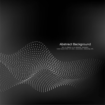 Modern dotted wave black background